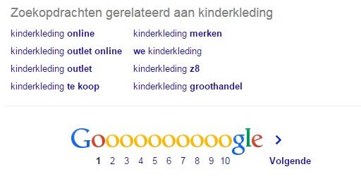 gerelateerde zoekdopdrachten google