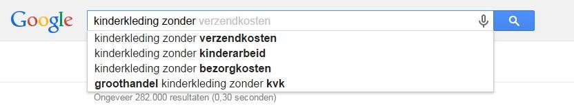 long tail zoekwoorden google