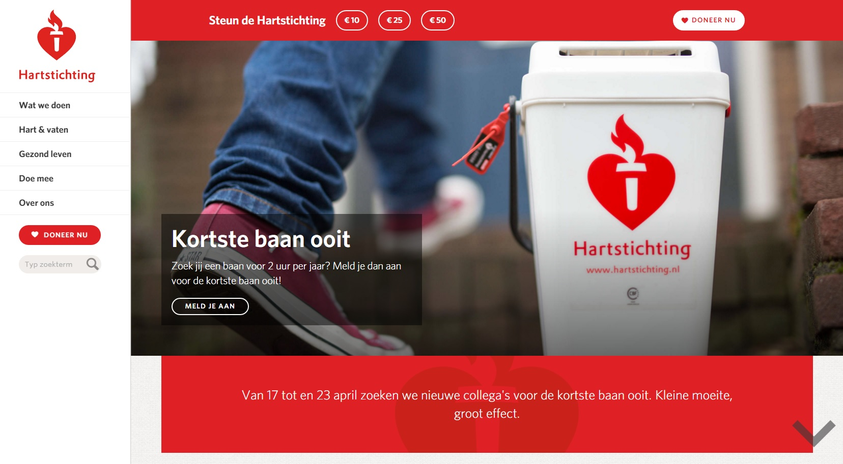 Hartstichting - homepage 1