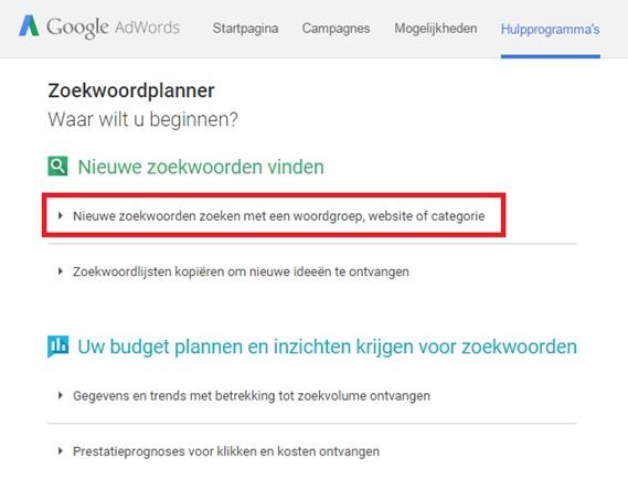 keyword planner google keyword research